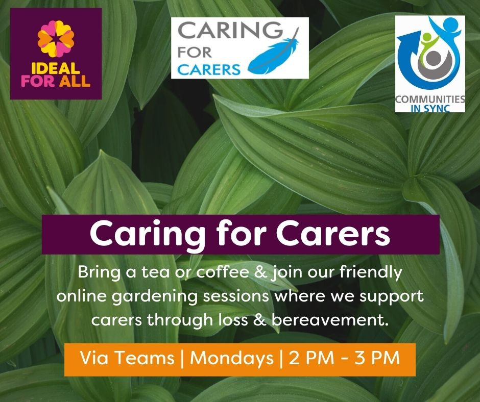 Caring for Carers Peer Support Group event logo