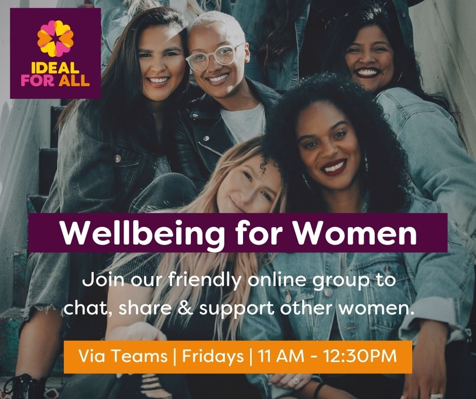 """""""Wellbeing For Women"""" Peer Support Women's Group  event logo"""