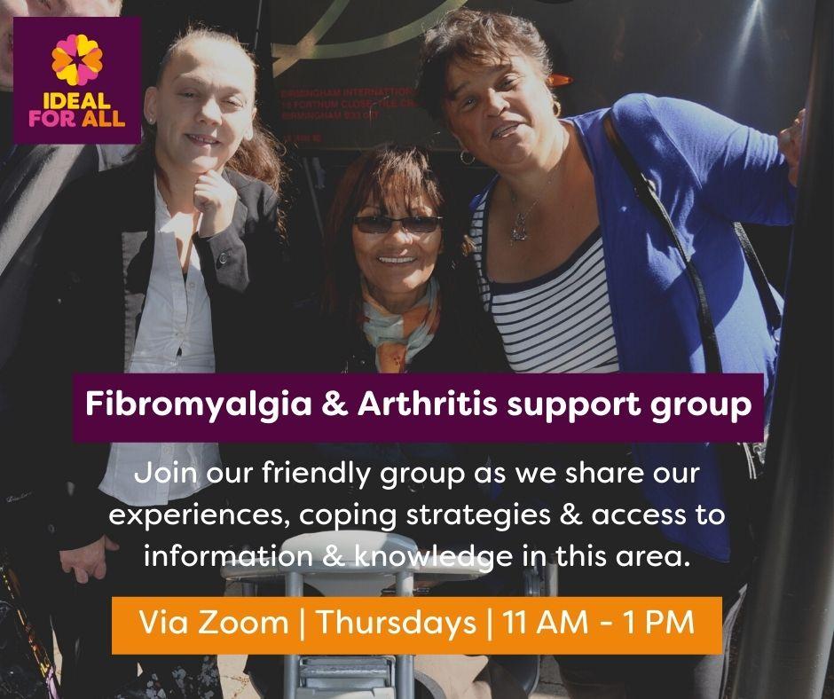 Fibromyalgia and Arthritis Peer Support Group event logo